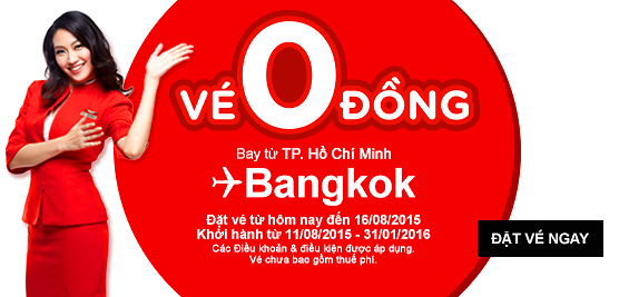 AirAsia tung ra 3 triệu vé khuyến mãi cực lớn, tiếp tục bán vé 0 đồng